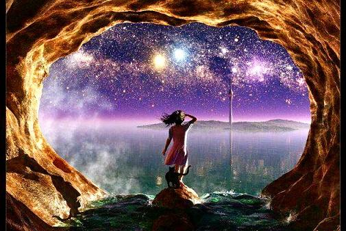 洞窟の少女 宇宙を見る.jpg